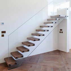 Glass stairs | Stairs / Elevators