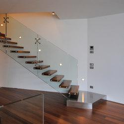 Mistral Stainless Steel Landing   Staircase systems   Siller Treppen