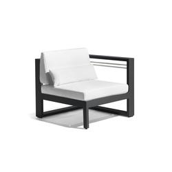 Fuse left seat | Garden armchairs | Manutti