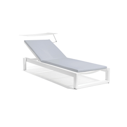 Fuse lounger + screen | Méridiennes de jardin | Manutti
