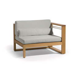 Siena lounge left seat | Sessel | Manutti