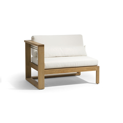 Siena lounge right seat | Garden armchairs | Manutti