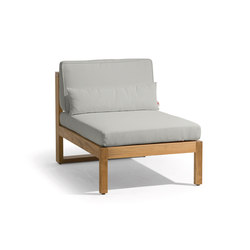 Siena lounge small middle seat | Armchairs | Manutti