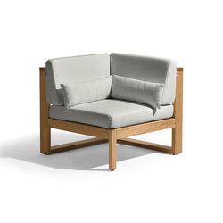 Siena lounge corner seat | Fauteuils de jardin | Manutti