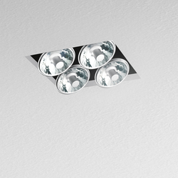 Nothing Recessed 4 Lamps square | Recessed ceiling lights | Artemide Architectural