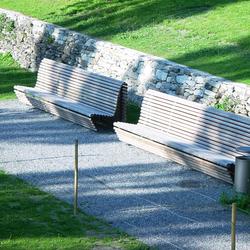 Garten Stockalperpalast, Brig | Außenbänke | BURRI