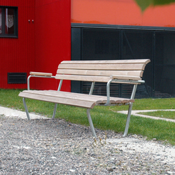 Landi Bench with backrest and armrest | Exterior benches | BURRI