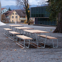 Landscape dining table | Benches with tables | BURRI