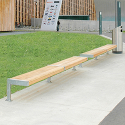 Modern Bench without backrest | Exterior benches | BURRI