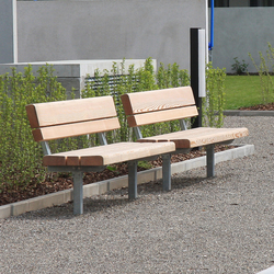 Park Bench with backrest | Bancs publics | BURRI