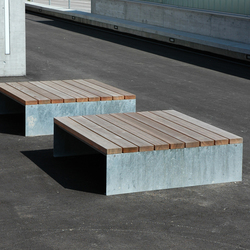 Picknick square seating area | Exterior benches | BURRI