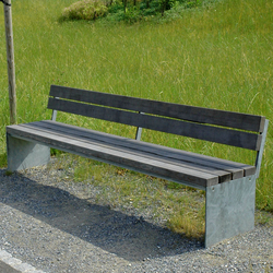 Picknick bench with backrest | Exterior benches | BURRI
