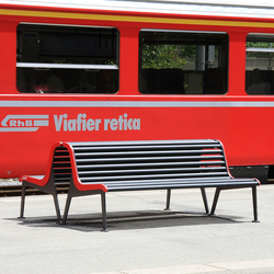 RhB Bench with backrest | Benches | BURRI