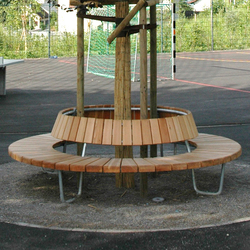 Round bench with backrest | Exterior benches | BURRI