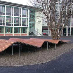 Schulhaus Guthirt, Zug | Exterior benches | BURRI