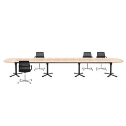 pulse conference table configuration with x-leg base | Mesas de conferencia multimedia | Wiesner-Hager