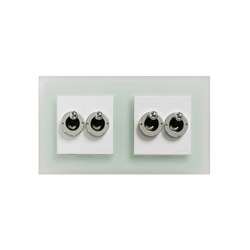 F37 2xdouble rocking switch | Interruttori a leva | Fontini