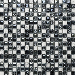 Air Black Silver Decor | Mosaike | Porcelanosa