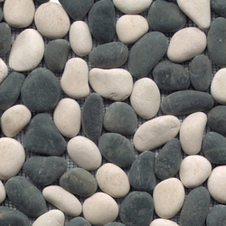 Anticato Baia Stone Blanco Negro | Naturstein Mosaike | Porcelanosa