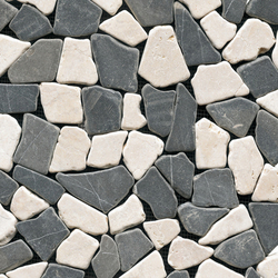 Anticato Broken Edge Negro Crema | Natural stone mosaics | Porcelanosa