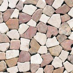 Anticato Broken Edge Rojo Crema | Mosaicos de piedra natural | Porcelanosa