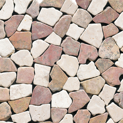 Anticato Broken Edge Rojo Crema | Natural stone mosaics | Porcelanosa