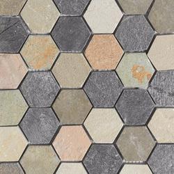 Anticato Irregular Hexa Mult Delhi | Natural stone mosaics | Porcelanosa