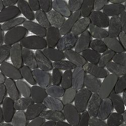 Anticato Lake Stone Negro | Natural stone mosaics | Porcelanosa