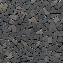 Anticato Mini Broken Edge Negro | Natural stone mosaics | Porcelanosa