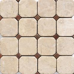 Anticato Octogono Crema | Naturstein Mosaike | Porcelanosa