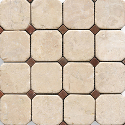 Anticato Octogono Crema | Natural stone mosaics | Porcelanosa