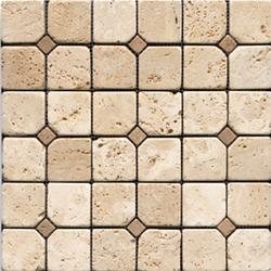 Anticato Pentagono Beige | Natural stone mosaics | Porcelanosa