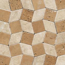 Anticato Rombos Noche Moka | Natural stone mosaics | Porcelanosa