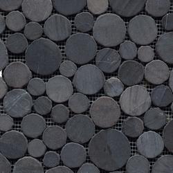 Anticato Round Stone Negro | Natural stone mosaics | Porcelanosa