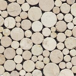 Anticato Round Stone Blanco | Natural stone mosaics | Porcelanosa