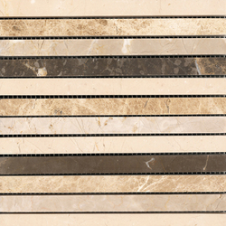 Classico Linear Browns 20 | Natural stone mosaics | Porcelanosa