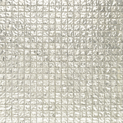 Fashion Gold White Wavy 1x1 | Glass mosaics | Porcelanosa