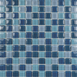 Glacier Mix Azules 2-3x2-3 | Glass mosaics | Porcelanosa