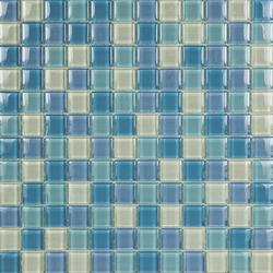 Glacier Mix Celestes 2-3x2-3 | Glass mosaics | Porcelanosa