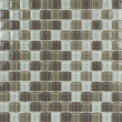 Glacier Mix Blanco Crema Chocolate 2-3x2-3 | Glass mosaics | Porcelanosa