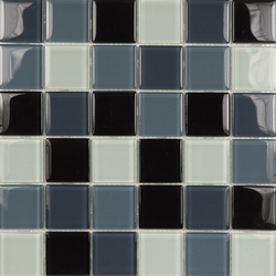 Glacier Mix Grises 2-3x2-3 | Glass mosaics | Porcelanosa