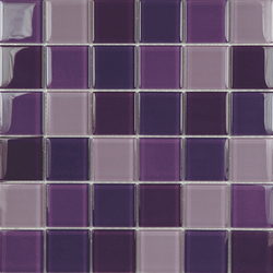 Glacier Mix Lilas 5x5 | Glass mosaics | Porcelanosa