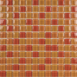 Glacier Mix Naranjas 2-3x2-3 | Glass mosaics | Porcelanosa