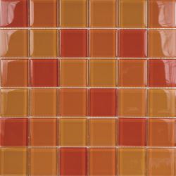 Glacier Mix Naranjas 5x5 | Mosaïques verre | Porcelanosa