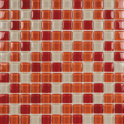 Glacier Mix Rojos 2-3x2-3 | Glass mosaics | Porcelanosa