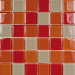 Glacier Mix Rojos 5x5 | Glass mosaics | Porcelanosa