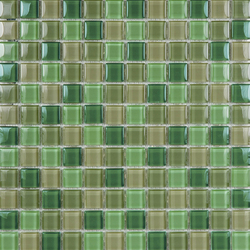 Glacier Mix Verdes 2-3x2-3 | Glass mosaics | Porcelanosa
