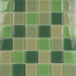 Glacier Mix Verdes 5x5 | Glass mosaics | Porcelanosa