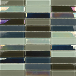 Metallic Glacier Mix Cremas 2-3x9-8 | Glass mosaics | Porcelanosa