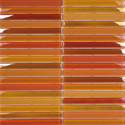 Metallic Glacier Mix Naranjas 1-5x14-8 | Glass mosaics | Porcelanosa